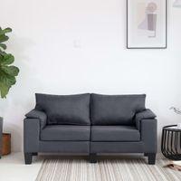 2-osobowa sofa ciemnoszara tapicerowana tkaniną VidaXL