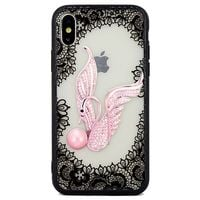 Etui Lace 3D iPhone 7/8 wzór 4 (swan)