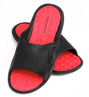 Klapki basenowe MONTANA Rozmiar - Klapki - 41, Kolor - Klapki - Montana - 31 - czarny / czerwony