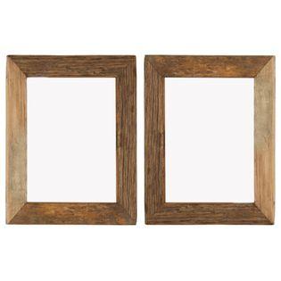 Lumarko Ramki na zdjęcia, 2 szt., 34x40 cm, drewno z odzysku i szkło!