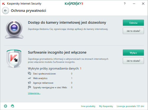 Kaspersky Internet Security 10 urządzeń / 2 lata kontynuacja na Arena.pl