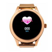 Smartwatch Damski różowe złoto stalowa bransoleta