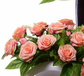 Wiązanka kompozycja herbaciana róża +bukiet zdjęcie 2