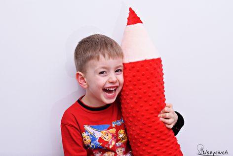 Kredka minky zagłówek zabawka ochraniacz poduszka czerwona