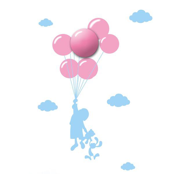 Lampa Ścienna Dziecięca Baloons Kinkiet 150 cm zdjęcie 1