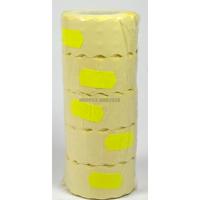 Taśma do metkownicy jednorzędowej cenówki metki  fala żółta