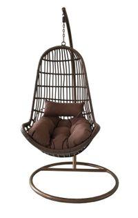 Luksusowe krzesło wiszące SALVADOR - brązowe
