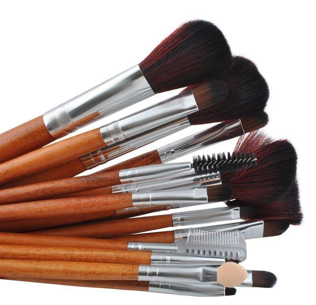 Zestaw 16 Profesjonalnych Pędzli Do Makijażu Etui 746 zdjęcie 1