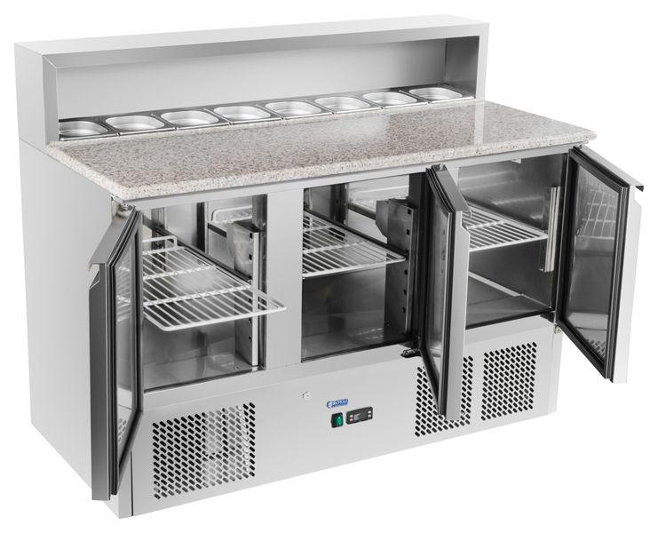 Chłodny Stół chłodniczy do pizzy 137x70 cm granit Royal Catering RCKT-137 WB42