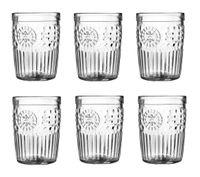 Szklanka niska do wody drinków napojów bezbarwna MAROCCO 358 ml komplet zestaw  6 sztuk etniczny wzór