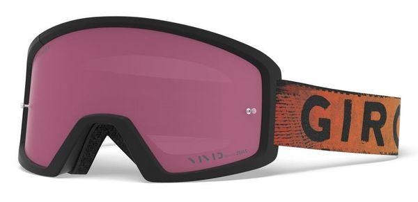 Gogle GIRO BLOK MTB black red hypnotic (Szyba Czerwona Lustrzana VIVID-Carl Zeiss TRAIL + Szyba Przeźroczysta 99% S0)