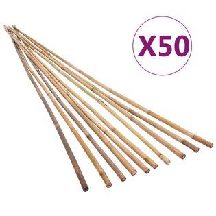 Tyczki Bambusowe Do Ogrodu, 50 Szt., 120 Cm