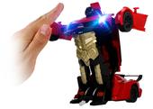 Transformer auto robot sterowany pilotem / ręką USB CZERWONY Z181C zdjęcie 7