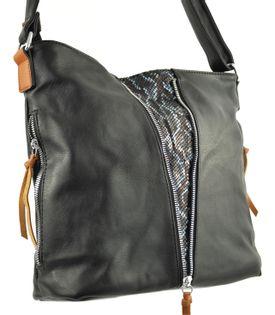 Listonoszka torebka miękka torba damska worek czarna