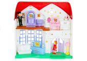 DOMEK dla lalek z mebelkami i małymi laleczkami rodzinką