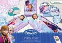 Przenośny dmuchany materac+śpiwór Frozen – Kraina Lodu