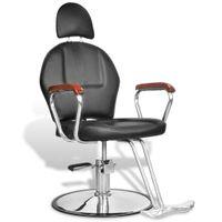 Profesjonalny fotel fryzjerski ze sztucznej, czarnej skóry