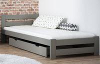 Łóżko A1 szare 90x200 stelaż EMD
