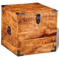 Skrzynia surowe drewno mango 46x46x46cm VidaXL