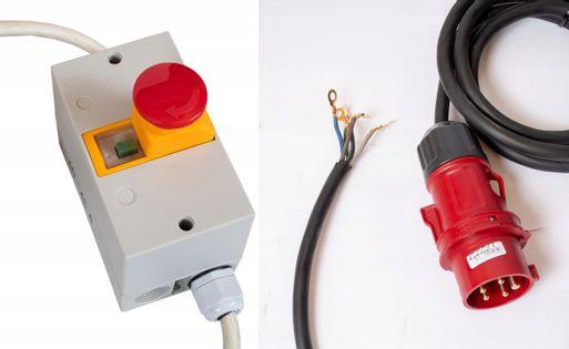 Włącznik siłowy z grzybkiem bezpieczeństwa 3-fazowy z termikiem 5p