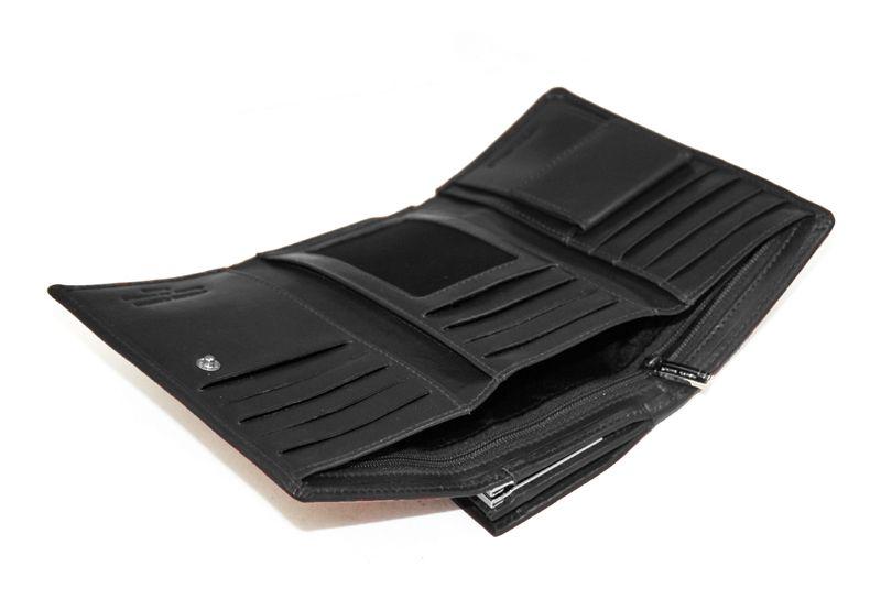 Czarna damska portmonetka Pierre Cardin, skóra naturalna zdjęcie 6