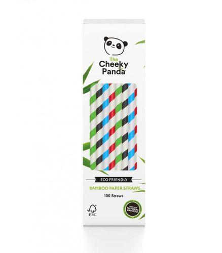 Jednorazowe słomki do napojów z papieru bambusowego MIX KOLORÓW 100 szt. The Cheeky Panda na Arena.pl
