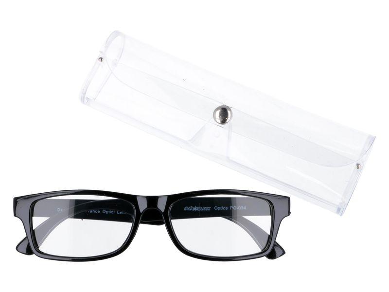 Czarne okulary korekcyjne do czytania plusy +3.50 zdjęcie 1