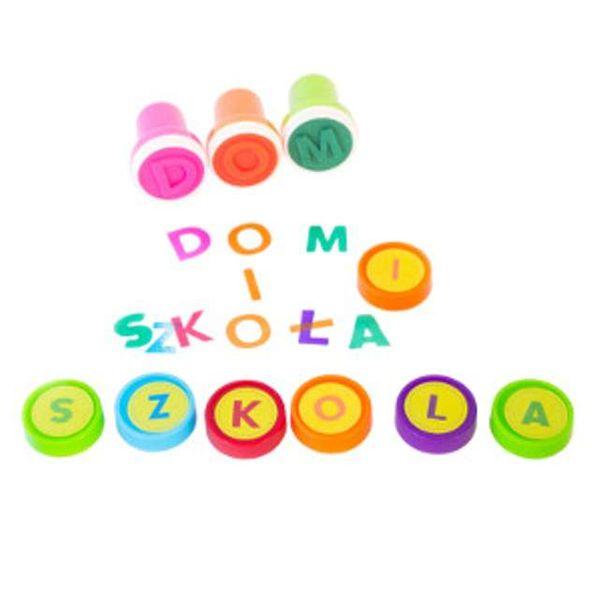 PIECZĄTKI dla dzieci stempelki LITERKI alfabet zdjęcie 2