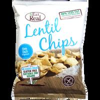EAT REAL Chipsy z soczewicy z dodatkiem soli morskiej 40g