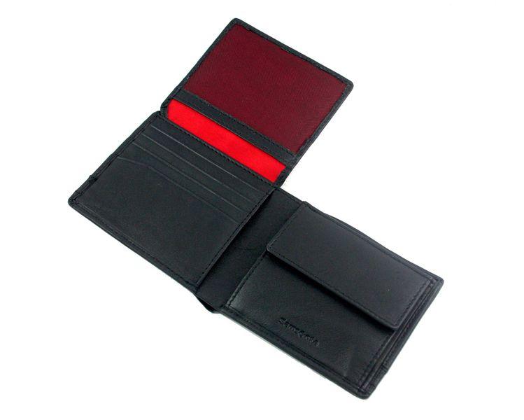 850cd1068617a Mały portfel męski Samsonite, skórzany w kolorze czarnym • Arena.pl