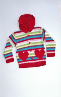Sweter z kapturem r.104 CZERWONY ...