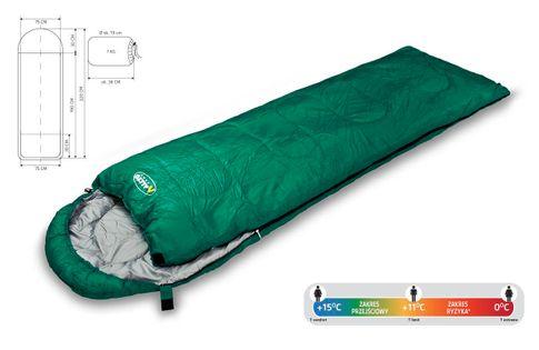 Śpiwór turystyczny Traper Allto Camp zielony