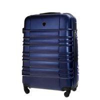Średnia walizka KEMER SOLIER 838 Granatowa