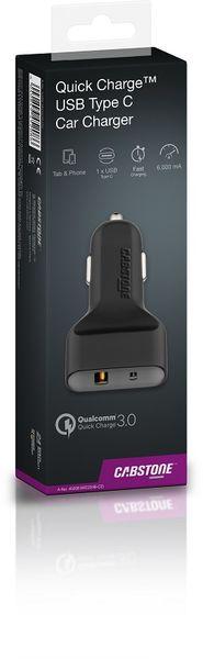 Ładowarka samochodowa Quick Charge™ USB-C CABSTONE zdjęcie 3