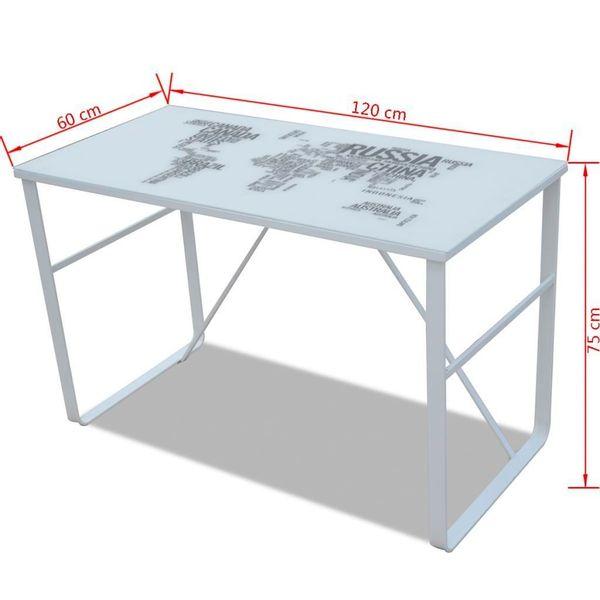 Biurko Białe Nowoczesne Z Mapą żelazne Nogi Arenapl