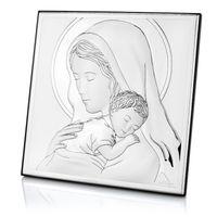 SREBRNY OBRAZEK Matka Boska PREZENT Chrzest GRAWER