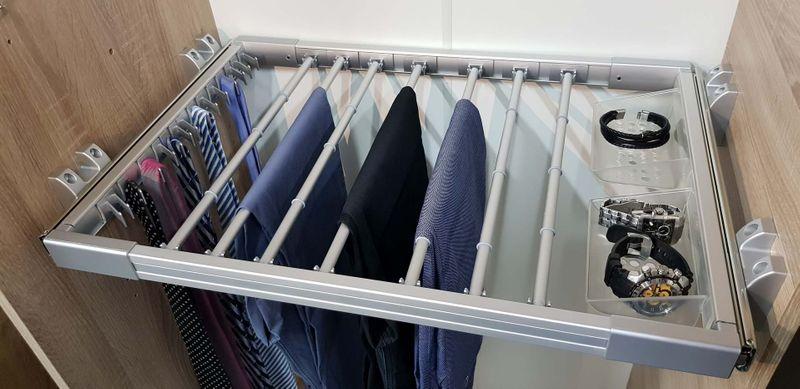 Wysuwny Wieszak Na Spodnie Do Szafy Garderoby Lxs