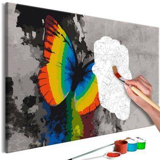 Obraz do samodzielnego malowania - Kolorowy motyl