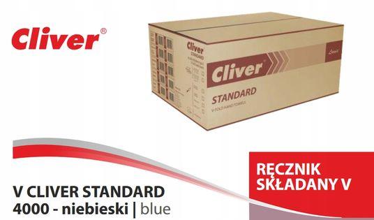 Ręcznik papierowy Cliver Standard niebieski 4000sz