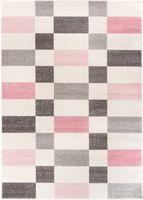 Dywan Carpetforyou Pink Cubes 80x150
