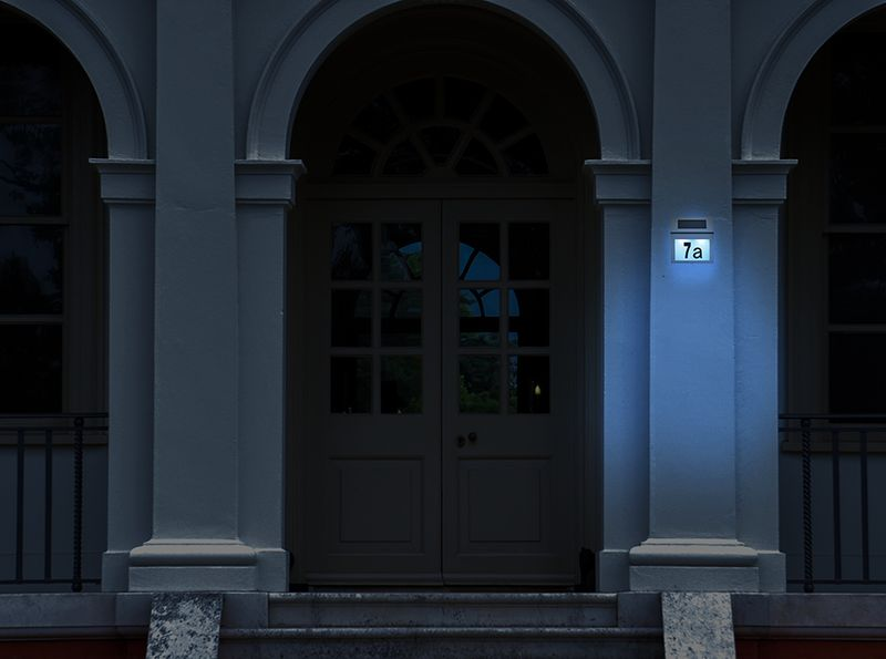 Podświetlany Numer Domu Solarna Lampa LED Metalowa 6783 zdjęcie 5