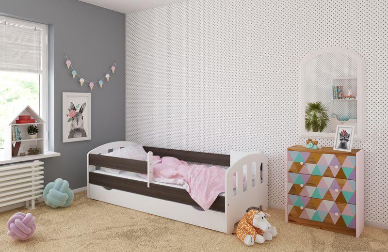 Łóżko FIFI 140x80 + szuflada + barierka zabezpieczająca + MATERAC zdjęcie 2