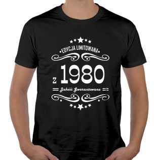 Koszulka męska na urodziny 30 40 50 60 70 lat XL ur23