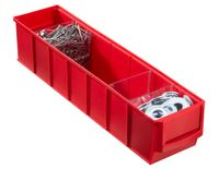 Pojemnik magazynowy czerwony- 91x400x81 mm