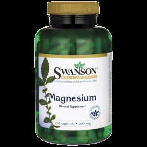 Magnesium magnez tlenek magnezu 200mg 250 kapsułek SWANSON