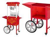 Maszyna do popcornu - wózek - czerwona Royal Catering RCPW-16.3