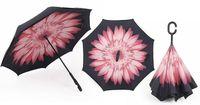 """Parasol odwrócony """"Revers"""" - różowy kwiat"""