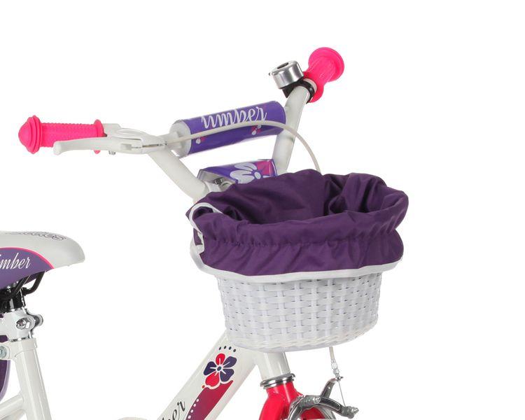 ROWEREK Lillies 16 Limber dla dziewczynki miejski Rower + kosz + sakwy zdjęcie 3