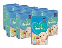 8 x PIELUCHY PAMPERS NEW BABY 1 NEWBORN 8 x 43 SZT