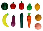 Zestaw KUCHNIA drewniane owoce i warzywa do krojenia magnetyczne Z211 zdjęcie 5